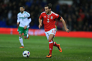 Adam Matthews of Wales in action.Wales v Northern Ireland, International football friendly match at the Cardiff City Stadium in Cardiff, South Wales on Thursday 24th March 2016. The teams are preparing for this summer's Euro 2016 tournament.     pic by  Andrew Orchard, Andrew Orchard sports photography.