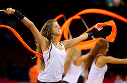Russian cheerleaders perform during  the Preliminary Round - Group B basketball match between National teams of Slovenia and Iran at 2010 FIBA World Championships on September 2, 2010 at Abdi Ipekci Arena in Istanbul, Turkey. (Photo By Vid Ponikvar / Sportida.com)