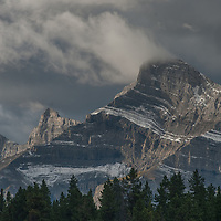 Dawn Light illuminates Mount Rundle in Banff National Park, Alberta, Canada.
