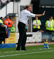 Photo: Steve Bond. <br />Derby County v Portsmouth. Barclays Premiership. 11/08/2007. Harry redknapp instructs from the touchline