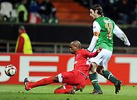 Fotball , 25. januar 2010 , Europa League <br /> SV Werder Bremen - Twente Enschede<br /> v.l. Dwight Tiendalli , Torsten Frings Bremen<br /> <br /> Norway only