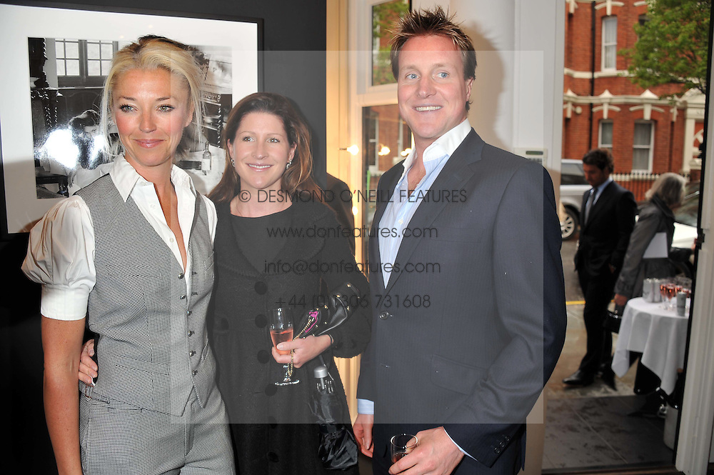 Left to right, TAMARA BECKWITH, NICOLA BECKWITH and HENRY BECKWITH at a private view of the late Patrick Lichfield: Nudes at The Little Black gallery, 13A Park Walk, London SW10 on 26th April 2012.