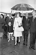25/08/1963<br /> 08/25/1963<br /> 25 August 1963<br /> Royal Visit by Prince Rainier and Princess Grace of Monaco. The Royal family arrive at Dublin Airport. Princess Grace smiles through the rain with Prince Albert at Dublin Airport.