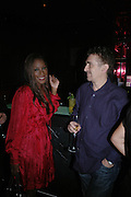 Amma Asante and Charlie Hanson. Marks and Spencer celebrate the launch of the new men's Autograph collection. Fifty Below. 50 St. James's St. London. SW1. 7 September 2005. ONE TIME USE ONLY - DO NOT ARCHIVE  © Copyright Photograph by Dafydd Jones 66 Stockwell Park Rd. London SW9 0DA Tel 020 7733 0108 www.dafjones.com