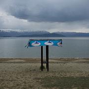 The beach of Dolno Dupeni, FYR Macedonia