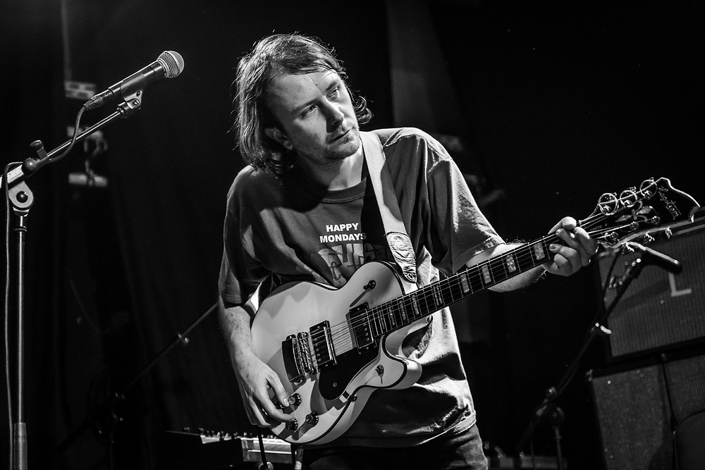 Jack Mellin of Scottish indie-rock band Spinning Coin supporting Alvvays at Gebäude 9 in Cologne