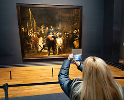 The Night Watch painting by Rembrandt van Rijn at the Rijksmuseum in Amsterdam, The Netherlands