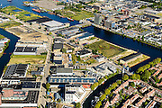 Nederland, Noord-Holland, Amsterdam, 27-09-2015; Amsterdam-Noord, Buiksloterham, Asterweg overgaand in Distelweg, voormalig industriegebied<br /> Amsterdam North, former industrial area, being developed.<br /> luchtfoto (toeslag op standard tarieven);<br /> aerial photo (additional fee required);<br /> copyright foto/photo Siebe Swart