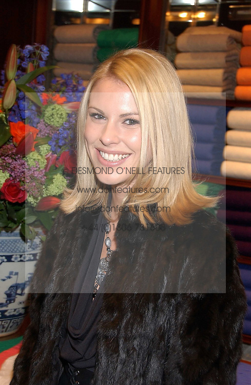 PETRINA KHASHOGGI at a party at Ralph Lauren, Bond Street, London in support of the NSPCC's Full Stop campaign on 21st March 2006.<br /><br />NON EXCLUSIVE - WORLD RIGHTS