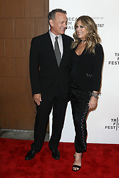 Actors Tom Hanks (L) and Rita Wilson attend 'The Circle' screening during the 2017 TriBeCa Film Festival at at BMCC Tribeca PAC on April 26, 2017 in New York City. (Photo by Debby Wong/imageSPACE) *** Please Use Credit from Credit Field ***