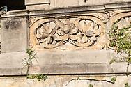 Terme del Corallo or Acque della salute. External friezes of the staircase of the ballroom