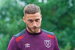 25.07.2017, Trainingsplatz TuS Bothel, Bothel, GER, Trainingslager, West Ham United, im Bild Marco Arnautovic auf dem Weg zum Platz // during a trainingsession at the trainingscamp of the English Premier League Football Club West Ham United at the Trainingsplatz TuS Bothel in Bothel, Germany on 2017/07/25. EXPA Pictures © 2017, PhotoCredit: EXPA/ Andreas Gumz<br /> <br /> *****ATTENTION - OUT of GER*****