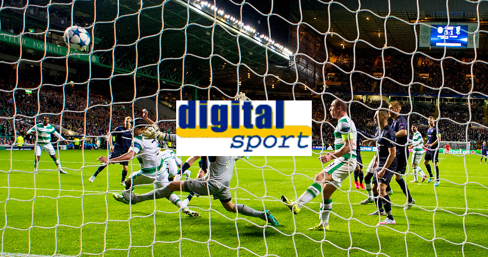 19/08/15 UEFA CHAMPIONS LEAGUE PLAY-OFF 1ST LEG<br /> CELTIC V MALMO<br /> CELTIC PARK - GLASGOW<br /> Jo Inge Berget scores a second for Malmo late on.