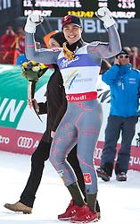 12.02.2011, Kandahar, Garmisch Partenkirchen, GER, FIS Alpin Ski WM 2011, GAP, Herren, Abfahrt, im Bild Goldmedaillen Gewinner und Weltmeister Erik Guay (CAN) // Gold Medal and World Champion Erik Guay (CAN) during men's Downhill, Fis Alpine Ski World Championships in Garmisch Partenkirchen, Germany on 12/2/2011. EXPA Pictures © 2011, PhotoCredit: EXPA/ J. Groder