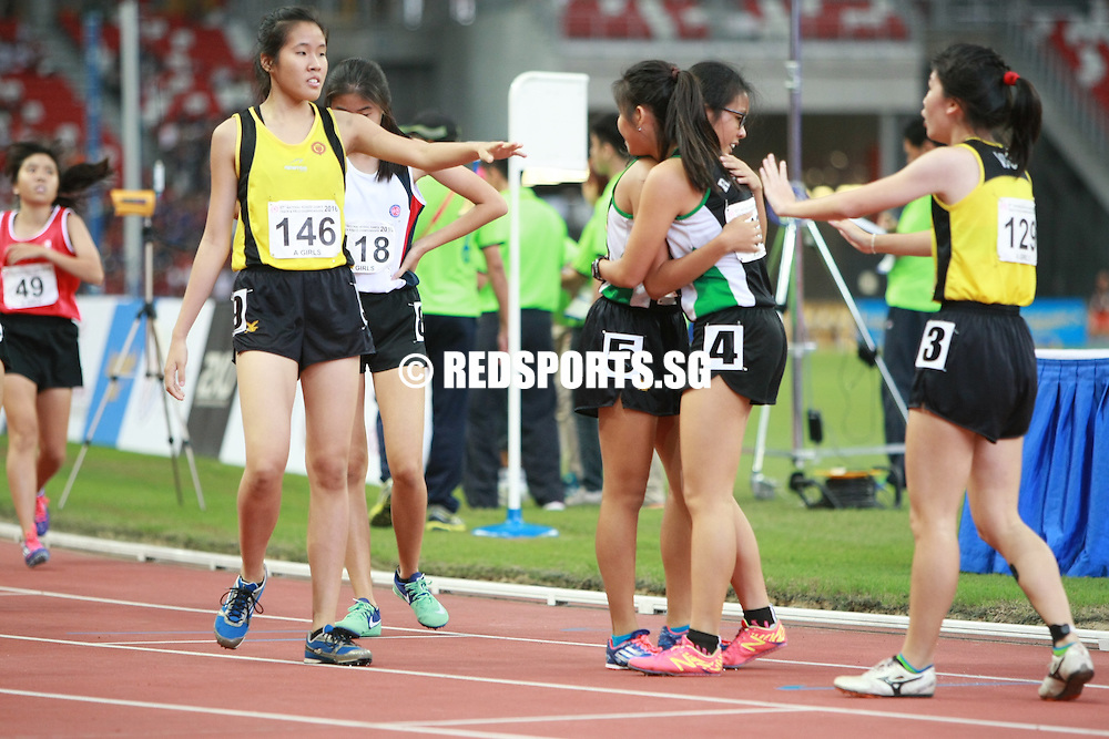National Stadium, Friday, April 29, 2016 - A tactical, slow-paced race saw Alexandra Wee, 17, of Victoria Junior College (VJC) edging out the competition with a timing of 2 minutes 36.53 seconds to win the A Division Girls' 800m final at the 57th National Schools Track and Field Championships.