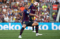 August 15, 2018 - Barcelona, Spain - Arthur during the match between FC Barcelona and C.A. Boca Juniors, corresponding to the Joan Gamper trophy, played at the Camp Nou, on 15th August, 2018, in Barcelona, Spain. (Credit Image: © Joan Valls/NurPhoto via ZUMA Press)