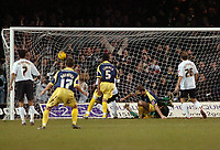 Photo: Kevin Poolman.<br />Luton Town v Derby County. Coca Cola Championship. 18/11/2006. Steve Howard (on the floor) of Derby scores their 2nd goal.