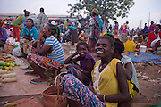 The market town of Jinka, Omo Valley, Ethiopia a group of woman