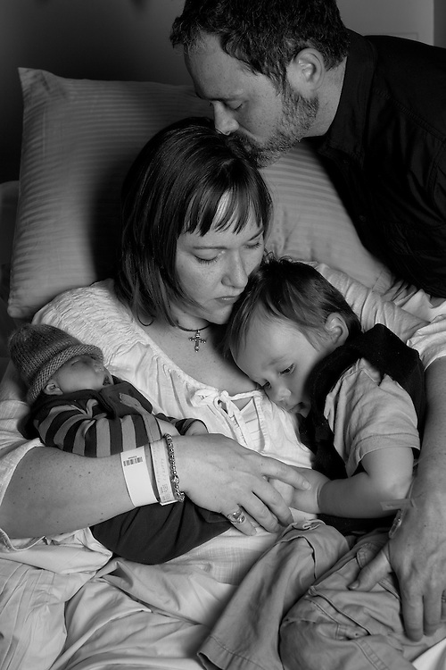 The Ferguson family mourns the loss of newborn Caleb.  This portrait is a service of the Now I Lay Me Down to Sleep Foundation and appears in the book Sleeping Beauty III: Memorial Photography in America.