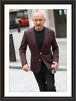 Ben Kingsley Sporting Royal Crest on Jacket Pictured Leaving BBC London 2 may 2016 Museum-quality Archival signed Framed Print A2 (Limited Edition of 25)