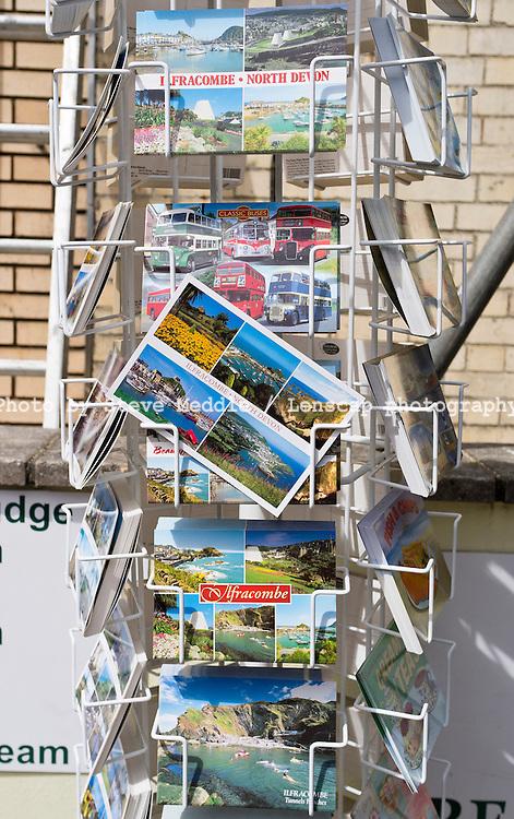 Postcards for Sale, Ilfracombe, North Devon - Aug 2011