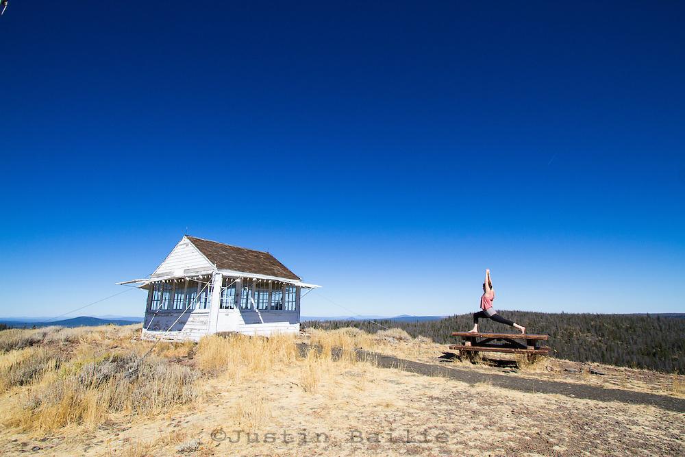Bald Butte fire lookout in southeast Oregon.