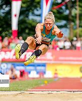 Friidrett<br /> Foto: imago/Digitalsport<br /> NORWAY ONLY<br /> <br /> 31.05.2015, Moeslestadion, Goetzis, AUT, 41. Hypo Meeting 2015, Siebenkampf der Frauen, Weitsprung, im Bild Ida Marcussen (NOR) // Ida Marcussen of Norway during the 41. Hypo Meeting Goetzis 2015, Women s Heptathlon, Long jump, at the Moeslestadion, Goetzis, Austria on 2015/05/31.