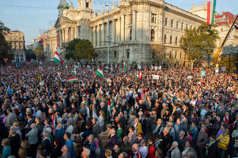 56th anniversary of Hungary's revolution of 1956 in Budapest, Hungary on October 23, 2012. ATTILA VOLGYI
