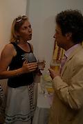 Princess Dora della Gherardesca and Count Adam Zamoyski. Adam Ball ' All that Glitters' private view hosted by Manfredi della Gherardesca and Patrizia Papachristidis .  Charles St. London. 19 June 2005. ONE TIME USE ONLY - DO NOT ARCHIVE  © Copyright Photograph by Dafydd Jones 66 Stockwell Park Rd. London SW9 0DA Tel 020 7733 0108 www.dafjones.com