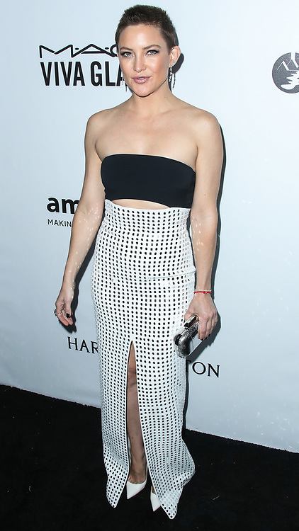 Kate Hudson wearing David Koma arrives at the amfAR Inspiration Gala Los Angeles 2017 held at Ron Burkle's Green Acres Estate on October 13, 2017 in Beverly Hills, California. 13 Oct 2017 Pictured: Kate Hudson. Photo credit: IPA/MEGA TheMegaAgency.com +1 888 505 6342