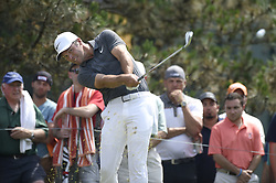 June 24, 2018 - Cromwell, CT, USA - Paul Casey watches his tee shot on the 5th hole during the final round of the Travelers Championship at TPC River Highlands in Cromwell, Conn., on Sunday, June 24, 2018. (Credit Image: © John Woike/TNS via ZUMA Wire)