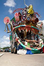 "Stock photo of the Houston Art Car Parade 2012 - ""The Music Monster"" - Artist: Sharpstown International High School under the direction of Patrick Renner"
