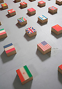 flag packing boxes on the floor