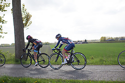 Rebecca Raybould (GBR) of Team GB rides in the peloton during the Omloop van Borsele - a 107.1 km road race, starting and finishing in s'-Heerenhoek on April 22, 2017, in Borsele, the Netherlands.