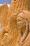 Female Face Sand sculpture festival on the Haifa beach, July 2006