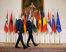"""24.09.2016, Bundeskanzleramt, Wien, AUT, Gipfeltreffen unter dem Titel """"Migration entlang der Balkanroute"""", im Bild v.l.n.r. Präsident des Europäischen Rates Donald Tusk und Bundeskanzler Christian Kern (SPÖ) // f.l.t.r. President of the European Council Donald Tusk and chkee during """"Migration along the Balkan route"""" Summit in Vienna, Austria on 2016/09/24, EXPA Pictures © 2016, PhotoCredit: EXPA/ BKA/ Andy Wenzel <br /> <br /> ***** VOLLSTÄNDIGE COPYRIGHTNENNUNG VERPFLICHTEND // MANDATORY CREDIT *****"""