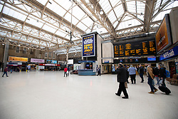 © Licensed to London News Pictures. 15/03/2020. London, UK. Charing Cross Station appears quiet this afternoon . New cases of the COVID-19 strain of Coronavirus are being reported daily as the government outlines it's plans for controlling the outbreak. Photo credit: George Cracknell Wright/LNP