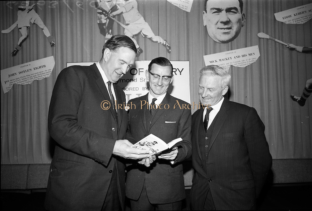 """17/05/1966<br /> 05/17/1966<br /> 17 May 1966<br /> Book reception for """"Decades of Glory: A Comprehensive History of the National Game"""" by Raymond Smith.<br /> This reception was held in the offices of W.D. & H.O. Wills to honour the well known author and journalist, Raymond Smith. His book on the history of Hurling (""""Decades of Glory"""") has just been published with the assistance of Wills of Dublin and Cork and the Central Council of the G.A.A."""