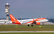 "EasyJet Europe, Airbus A320-214 painted in ""Austria"" special colours at Malpensa (MXP / LIMC), Milan, Italy"