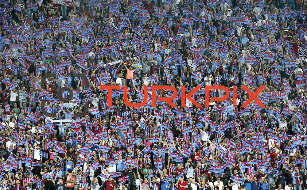Trabzonspor's supporters during their Turkish SuperLeague Derby match Trabzonspor between Fenerbahce at the Avni Aker Stadium at Trabzon Turkey on Sunday, 14 September 2014. Photo by Aykut AKICI/TURKPIX