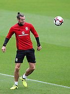 Gareth Bale of Wales in action during the Wales football team training at the Vale Resort in Hensol, near Cardiff , South Wales on Tuesday 29th August 2017.  the team are preparing for their FIFA World Cup qualifier home to Austria this weekend.  pic by Andrew Orchard, Andrew Orchard sports photography