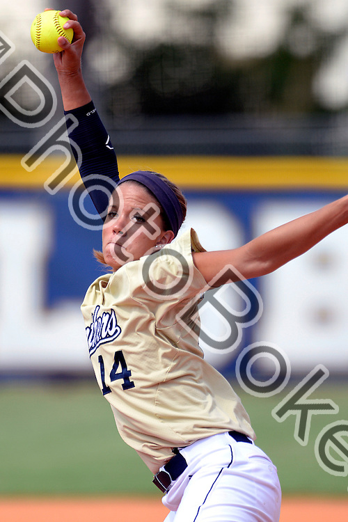 2014 April 26 - FIU's Corinne Jenkins (14). <br /> Florida International University defeated the University of North Texas, 7-1, at Feldsberg Softball Complex, Miami, Florida. (Photo by: Alex J. Hernandez / photobokeh.com) This image is copyright by PhotoBokeh.com and may not be reproduced or retransmitted without express written consent of PhotoBokeh.com. ©2014 PhotoBokeh.com - All Rights Reserved