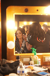December 8, 2019, Atlanta, Georgia, USA: Zuleika Soler, Miss El Salvador 2019 gets makeup done by an OP Cosmetics artist backstage during The Miss Universe Competition telecast, held at Tyler Perry Studios. Contestants from around the globe have spent the last few weeks touring, filming, rehearsing and preparing to compete for the Miss Universe crown. (Credit Image: © Benjamin Askinas/Miss Universe Organization via ZUMA Wire)