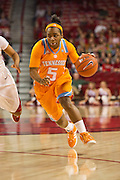 Jan 8, 2012; Fayetteville, AR, USA; Tennessee Lady Volunteers guard Ariel Massengale (5) dribbles the ball during a game against the Arkansas Razorbacks at Bud Walton Arena. Tennessee defeated Arkansas 69-38. Mandatory Credit: Beth Hall-US PRESSWIRE