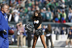 Philadelphia Eagles Cheerleaders perform before the NFL game between the Philadelphia Eagles and the New York Giants on Sunday, October 27th 2013 in Philadelphia. The Giants won 15-7. (Photo by Brian Garfinkel)
