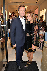 GREGOR ANGUS and JULIET ANGUS at the opening of the Nirav Modi flagship London store at 31 Old Bond Street, London on 19th September 2016.