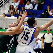 Anadolu Efes's Estaban BATISTA (R) during their Turkey Cup Qualifying basketball third match Anadolu Efes between Aliaga Petkim at Aliaga Arena in Izmir, Turkey, Tuesday, October 11, 2011. Photo by TURKPIX