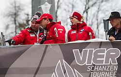 05.01.2013, Paul Ausserleitner Schanze, Bischofshofen, AUT, FIS Ski Sprung Weltcup, 61. Vierschanzentournee, Qualifikation, im Bild Markus Maurberger, Trainer (AUT) und Alexander Pointner, Trainer (AUT) //  Markus Maurberger, Trainer (AUT) and Alexander Pointner, Trainer (AUT) during Qualification of 61th Four Hills Tournament of FIS Ski Jumping World Cup at the Paul Ausserleitner Schanze, Bischofshofen, Austria on 2013/01/05. EXPA Pictures © 2012, PhotoCredit: EXPA/ Juergen Feichter