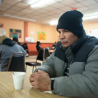 Eric Becenti visits the Hozho Center in Gallup Tuesday morning. Becenti estimates he visits the center at least once a week.