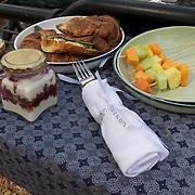 A wonderful bush breakfast. South Africa.